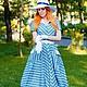"""Платья ручной работы. Платье в стиле 50-х """"Bluesky"""". Анна-Лиза (Мода вне времени ТМ). Интернет-магазин Ярмарка Мастеров."""