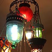 Для дома и интерьера ручной работы. Ярмарка Мастеров - ручная работа люстра из цветного стекла Гарем. Handmade.