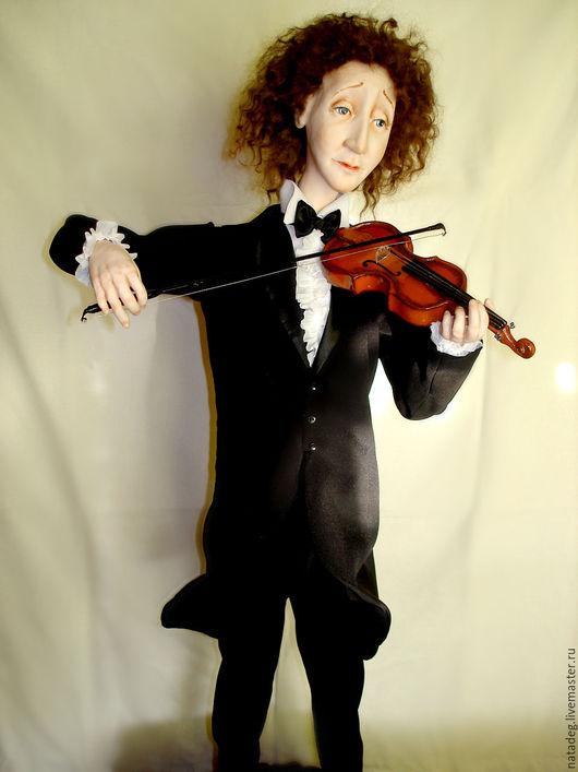 Коллекционные куклы ручной работы. Ярмарка Мастеров - ручная работа. Купить скрипач. Handmade. Коллекционная кукла, кукла из пластика, ЛивингДолл