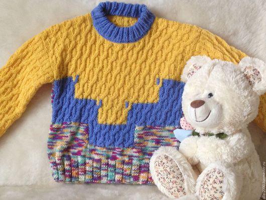 Одежда для мальчиков, ручной работы. Ярмарка Мастеров - ручная работа. Купить Джемпер детский ручной вязки. Handmade. Комбинированный