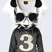 """Одежда ручной работы. Ярмарка Мастеров - ручная работа Женская футболка """"Панда"""". Handmade."""