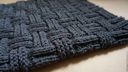 """Текстиль, ковры ручной работы. Ярмарка Мастеров - ручная работа. Купить вязаный коврик """"корзинка"""". Handmade. Темно-серый, уют"""