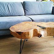 Столы ручной работы. Ярмарка Мастеров - ручная работа Кофейный столик из карагача. Handmade.