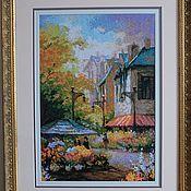 Картины и панно ручной работы. Ярмарка Мастеров - ручная работа Цветочная улица. Handmade.