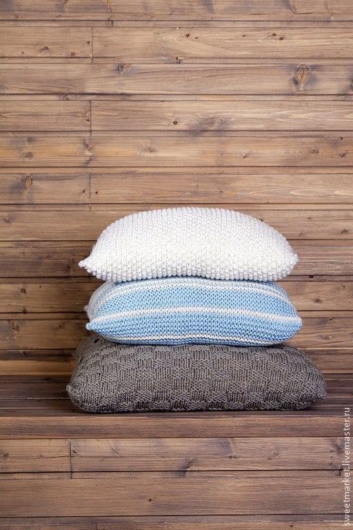 Текстиль, ковры ручной работы. Ярмарка Мастеров - ручная работа. Купить Вязаные наволочки. Handmade. Подушка, подушка диванная