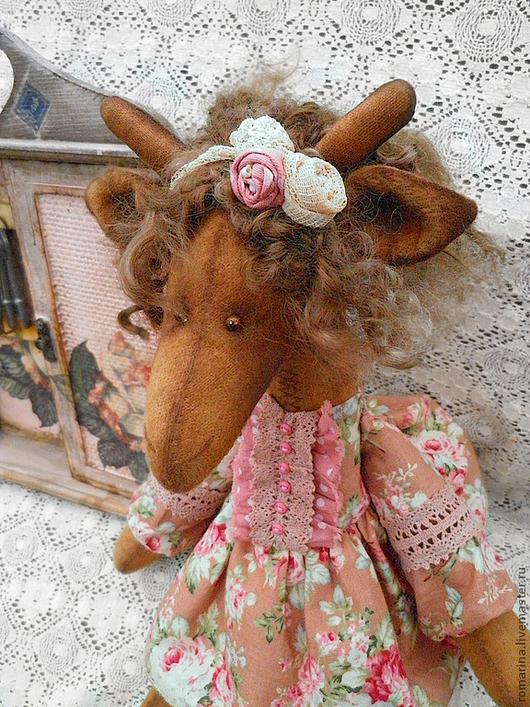 Игрушки животные, ручной работы. Ярмарка Мастеров - ручная работа. Купить Розалия, шебби-шик. Handmade. Розовый, винтажный стиль