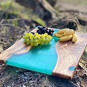 Декор ручной работы. Ярмарка Мастеров - ручная работа Стол река, слэбы с эпоксидной смолой. Handmade.