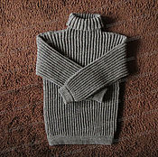 Одежда handmade. Livemaster - original item Sweater fleece with a collar, grey (No. №3). Handmade.