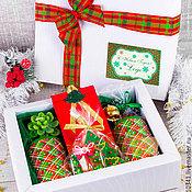 """Подарки к праздникам ручной работы. Ярмарка Мастеров - ручная работа Новогодний подарочный набор """"Еловый лес"""". Handmade."""