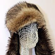 Аксессуары ручной работы. Ярмарка Мастеров - ручная работа Ушанка-шлем дублёнка (таскана). Handmade.