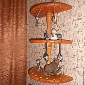 Для дома и интерьера ручной работы. Ярмарка Мастеров - ручная работа Полка для коллекции сувенирных ложечек. Handmade.