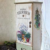 Для дома и интерьера ручной работы. Ярмарка Мастеров - ручная работа ТРАВЫ аптечный шкафчик. Handmade.