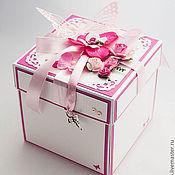 Свадебный салон ручной работы. Ярмарка Мастеров - ручная работа Коробочка для денег Magic Box свадебная Ярко-розовая. Handmade.
