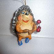 Куклы и игрушки ручной работы. Ярмарка Мастеров - ручная работа Ёжики. Елочная игрушка. Handmade.