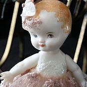 Куклы и игрушки ручной работы. Ярмарка Мастеров - ручная работа Кукла-малышка в стиле антикварочки. Handmade.