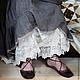 Белье ручной работы. Ярмарка Мастеров - ручная работа. Купить Комплект кружевная юбка и панталончики в стиле бохо. Handmade. Бежевый