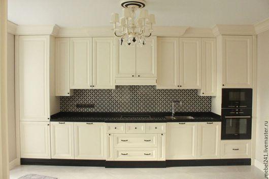 Мебель ручной работы. Ярмарка Мастеров - ручная работа. Купить мебель в кухню в классическом стиле на заказ. Handmade. Кухня Прованс