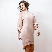 Одежда handmade. Livemaster - original item Powdery dress of Alpaca wool