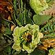 Зеленые маки. Интерьерная композиция ручной работы. Черникова Юля. Ярмарка Мастеров. Handmade. Купить интерьерная композиция `Зеленые маки`.
