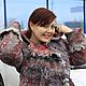 """Верхняя одежда ручной работы. Ярмарка Мастеров - ручная работа. Купить Пальто """"Инна"""" Красный серый шерсть валяное войлок. Handmade."""