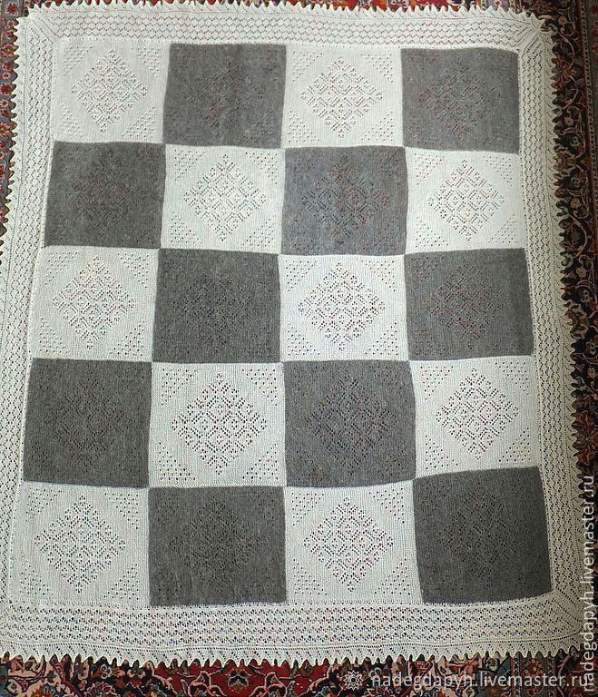 Plaids: 99-knitted down blanket, Orenburg down products, Blankets, Orenburg,  Фото №1