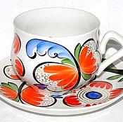 Посуда ручной работы. Ярмарка Мастеров - ручная работа Большая чайная пара. Handmade.
