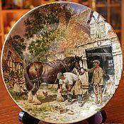 "Винтаж handmade. Livemaster - original item Коллекционные тарелки серии ""Жизнь на ферме"", Wedgwood, Англия. Handmade."