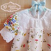 Работы для детей, ручной работы. Ярмарка Мастеров - ручная работа Платье для девочки Луговые Цветы. Handmade.