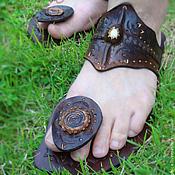 """Обувь ручной работы. Ярмарка Мастеров - ручная работа Кожаные сандалии """"Crazy Indian"""". Handmade."""