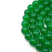 Материалы для творчества handmade. Livemaster - original item Green jade beads 8 mm 50 PCs. Handmade.