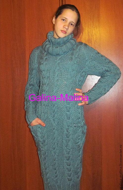 Dress is 'Smoky green' long, Dresses, Penza,  Фото №1