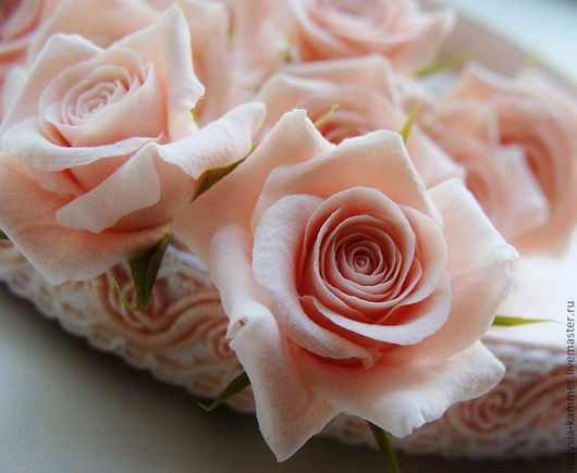"""Свадебные украшения ручной работы. Ярмарка Мастеров - ручная работа. Купить Набор шпилек """"Розы нежно-розовые"""" 10 шт.. Handmade."""