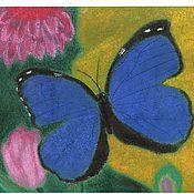 """Картины и панно ручной работы. Ярмарка Мастеров - ручная работа Картина """"Бабочка"""" (пастель). Handmade."""