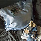 Наволочки ручной работы. Ярмарка Мастеров - ручная работа Наволочка шелк Снежное небо. Handmade.