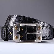 handmade. Livemaster - original item Wide belt made of Python leather, width 4,3 cm IMP3111B. Handmade.