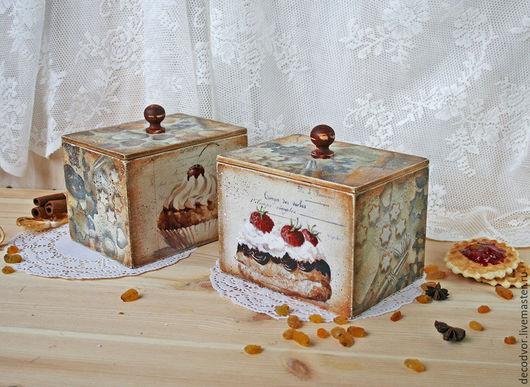 """Кухня ручной работы. Ярмарка Мастеров - ручная работа. Купить Набор коробочек для продуктов """"Воздушные пирожные"""". Handmade. Бежевый"""