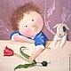 Люди, ручной работы. Ярмарка Мастеров - ручная работа. Купить Картина маслом Маленький Рембрандт  Е.Гапчинская 30 на 40 см. Handmade.