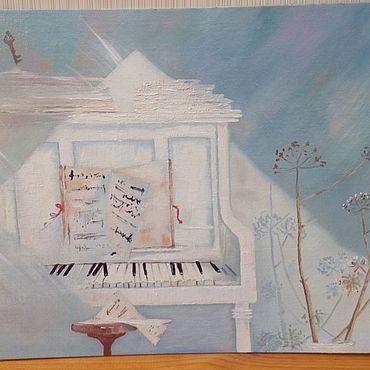 Картины и панно ручной работы. Ярмарка Мастеров - ручная работа Солнечный ноктюрн. Handmade.