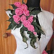 """Одежда ручной работы. Ярмарка Мастеров - ручная работа Копия работы Жилет """" Розовые розы"""". Handmade."""
