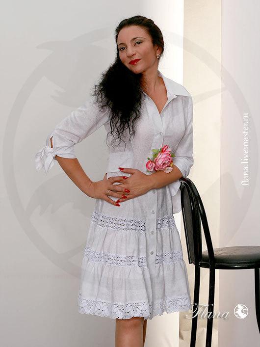 Кружевное платье летнее `Ажур`. Индивидуальный пошив, Флана