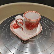 Наборы посуды ручной работы. Ярмарка Мастеров - ручная работа Наборы посуды: кофейная пара. Handmade.