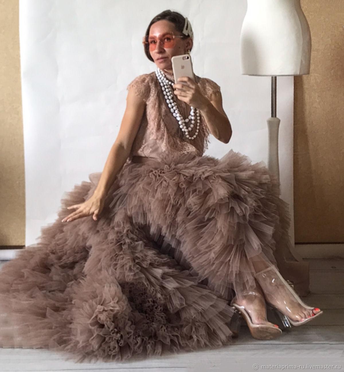 Необычная свадебная юбка-пачка в цвете Тауп, Платья, Москва,  Фото №1