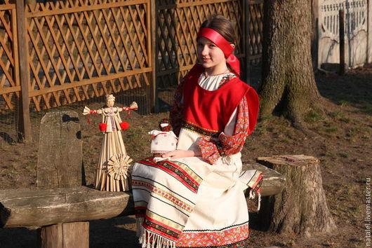 Одежда ручной работы. Ярмарка Мастеров - ручная работа. Купить Костюм в этностиле для девушки. Handmade. Русский стиль, славянское платье
