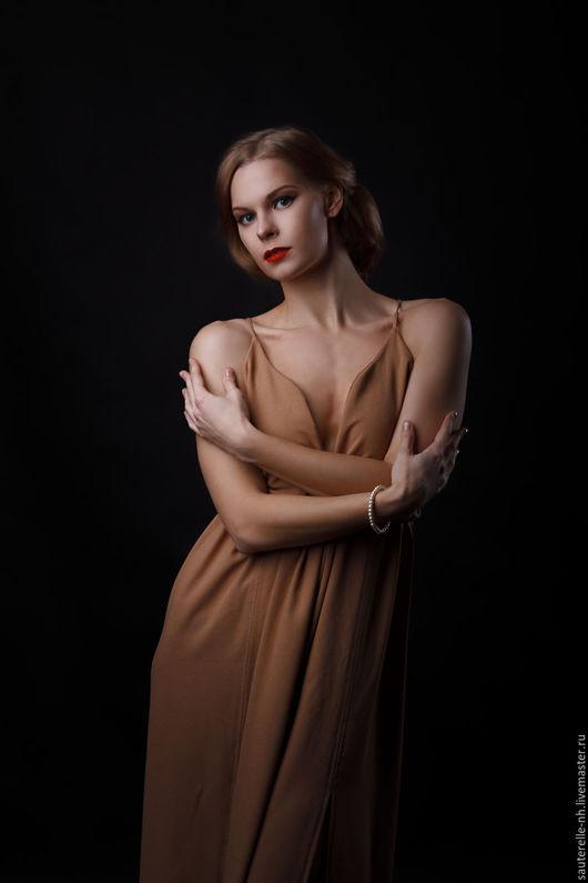 Платья ручной работы. Ярмарка Мастеров - ручная работа. Купить Платье Summer Night. Handmade. Бежевый, платье, платье летнее