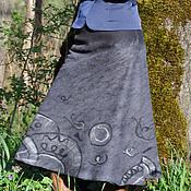"""Одежда ручной работы. Ярмарка Мастеров - ручная работа Валяная юбка """"Река времени"""". Handmade."""