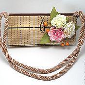Сумки и аксессуары ручной работы. Ярмарка Мастеров - ручная работа Бамбуковая сумочка с розочками. Handmade.