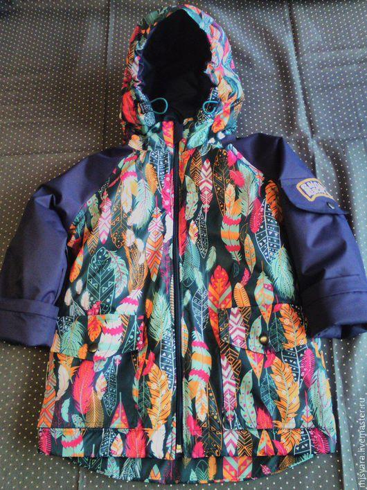 """Одежда для мальчиков, ручной работы. Ярмарка Мастеров - ручная работа. Купить Мембранный комплект """"Пёрышки"""". Handmade. Тёмно-синий, мембрана"""