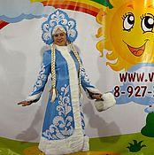 Одежда handmade. Livemaster - original item Snow Maiden costume with patterns handmade. Handmade.