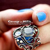 """Украшения ручной работы. Ярмарка Мастеров - ручная работа """"Lairelosse"""" Серебряное кольцо с лабрадоритом и лунным камнем. Handmade."""