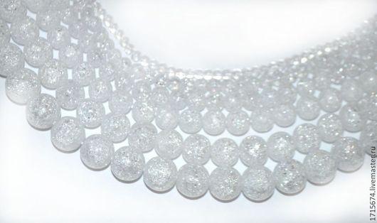Для украшений ручной работы. Ярмарка Мастеров - ручная работа. Купить Снежный кварц 4, 6, 8, 10, 12, 14 мм. Handmade.